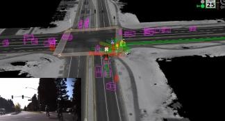 Google Self Driving Car on City Streets
