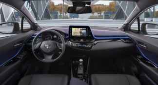Toyota c hr 1 2 turbo tests for Interieur toyota chr