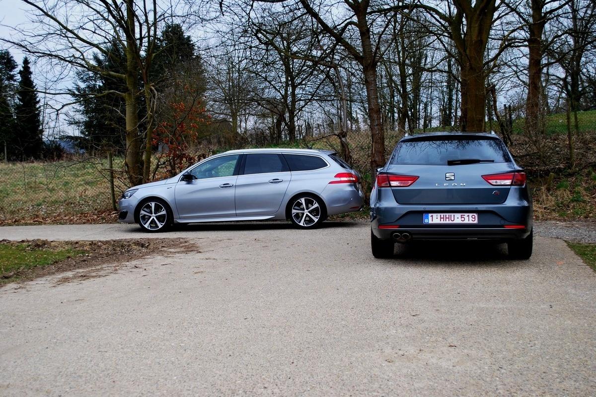 Galerie photo Seat Leon ST FR vs Peugeot 308 SW GT   Auto55.be