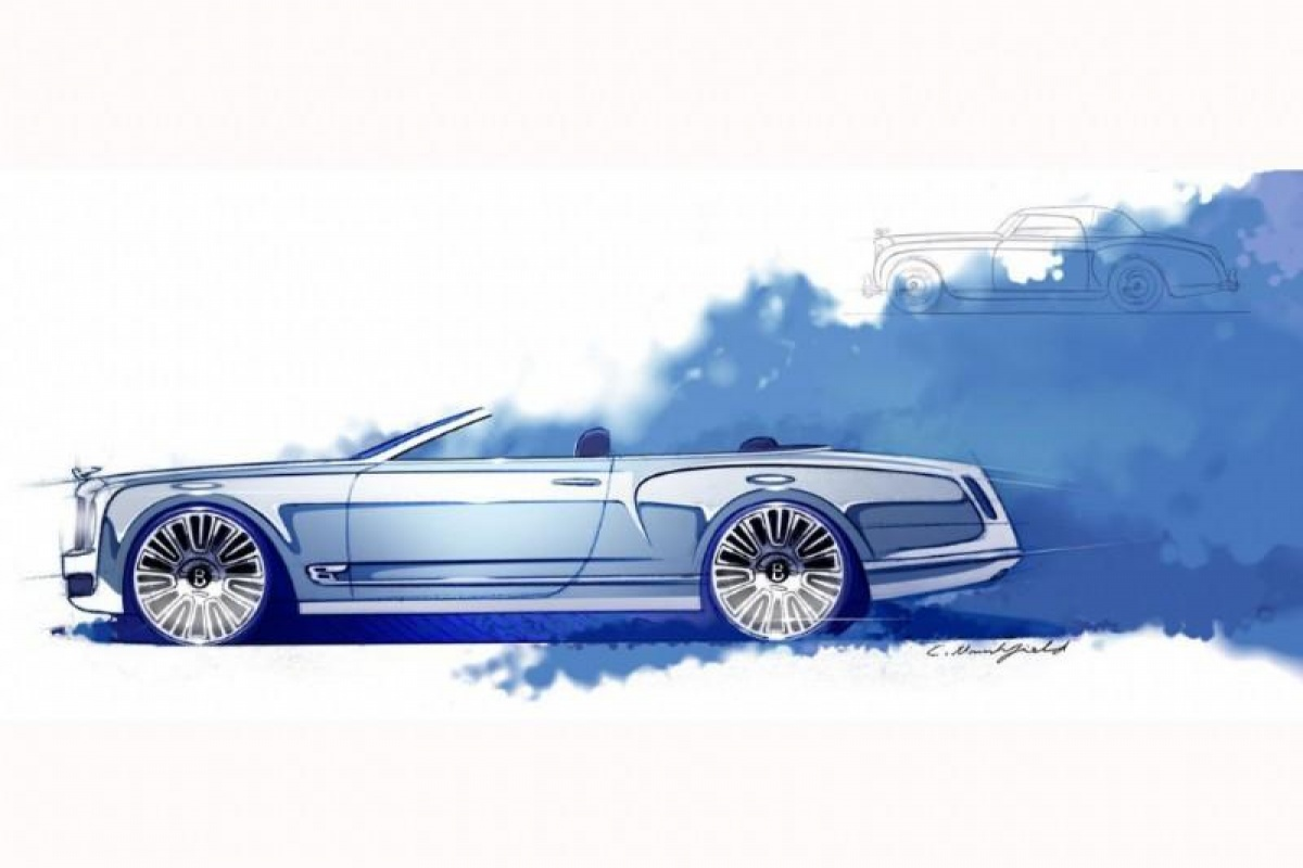 Bentley Mulsanne Convertible sketches
