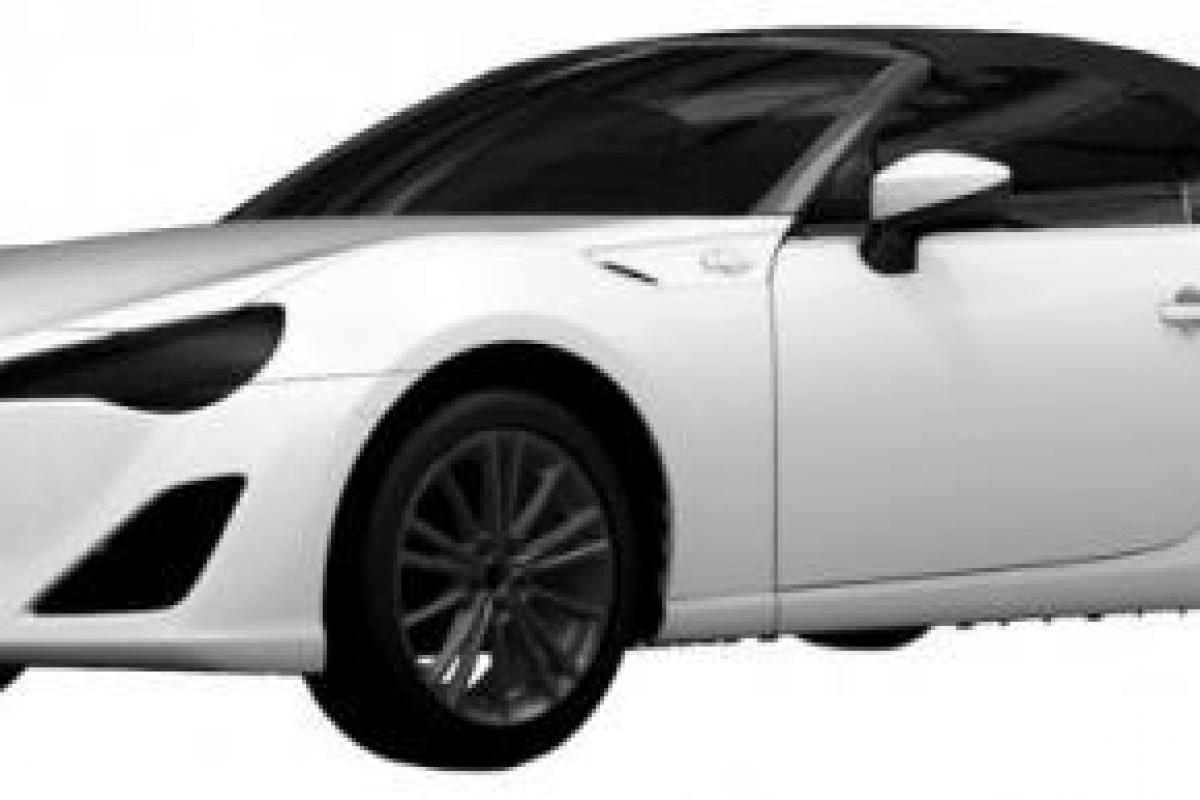 Toyota GT86 Cabrio patent images