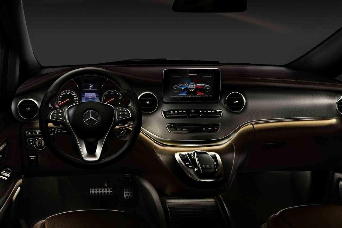 21141 Nieuwe Mercedes V Klasse Van Binnen Naar Buiten