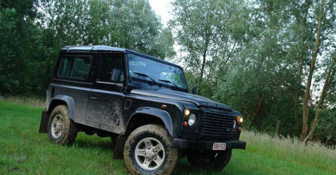 Land rover defender 90 tests for Arceau exterieur defender 90